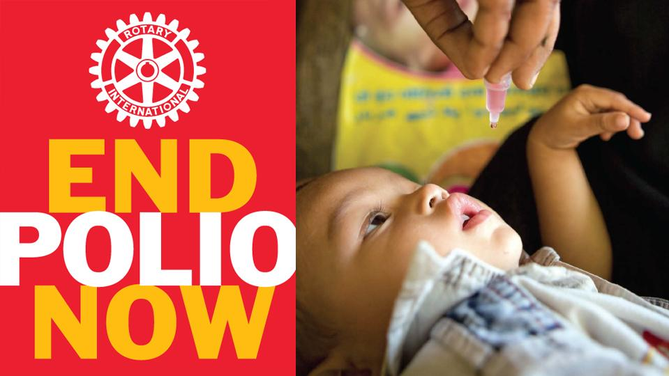 Image result for rotary end polio now campaign